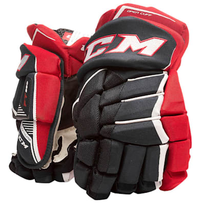 Navy/Red/White (CCM JetSpeed FT390 Hockey Gloves - Junior)