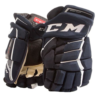 Navy/White (CCM JetSpeed FT390 Hockey Gloves - Junior)