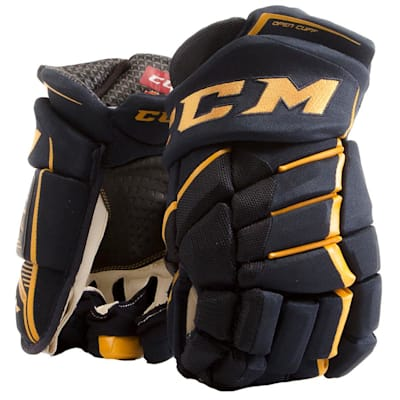 Navy/Sunflower (CCM JetSpeed FT390 Hockey Gloves - Junior)
