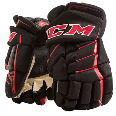 Black/Red (CCM JetSpeed FT390 Hockey Gloves - Senior)