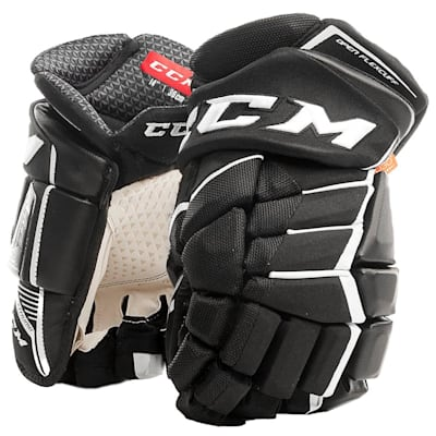 Black/White (CCM JetSpeed FT1 Hockey Gloves - Junior)