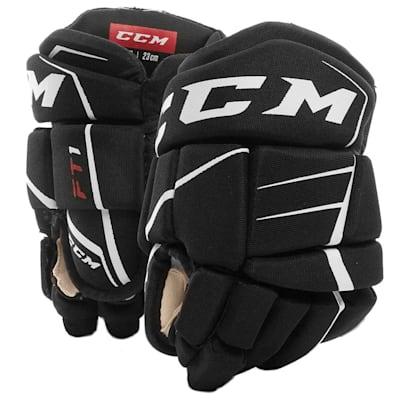 Black/White (CCM JetSpeed FT1 Youth Hockey Gloves - Youth)