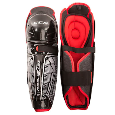 (CCM JetSpeed FT350 Hockey Shin Guards - Junior)
