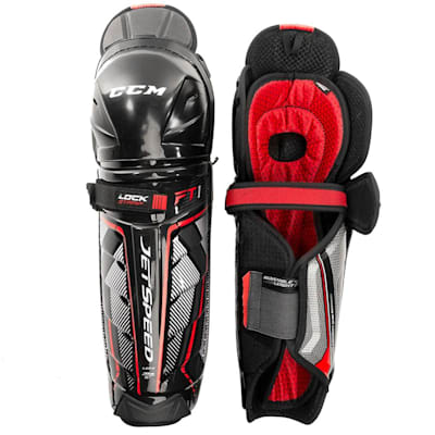 (CCM JetSpeed FT1 Hockey Shin Guards - Junior)