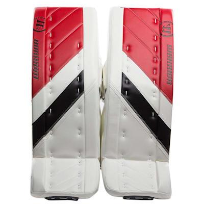 White/Black/Red (Warrior Ritual G4 Goalie Leg Pads - Intermediate)