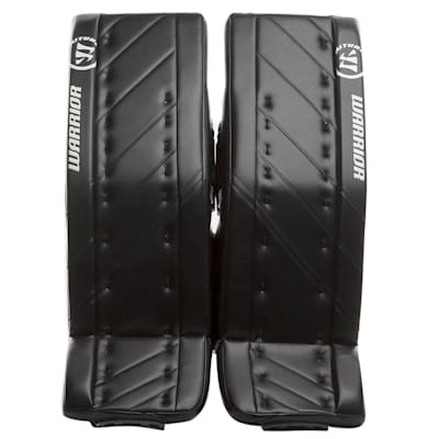 Black/Black (Warrior Ritual G4 Goalie Leg Pads - Intermediate)