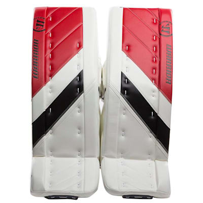 White/Black/Red (Warrior Ritual G4 Goalie Leg Pads - Senior)