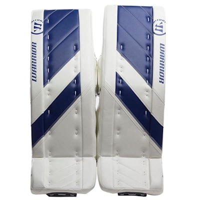 White/Blue (Warrior Ritual G4 Goalie Leg Pads - Senior)