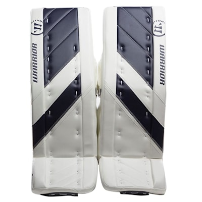 White/Navy (Warrior Ritual G4 Goalie Leg Pads - Senior)