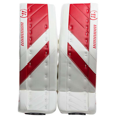 White/Red (Warrior Ritual G4 Goalie Leg Pads - Senior)