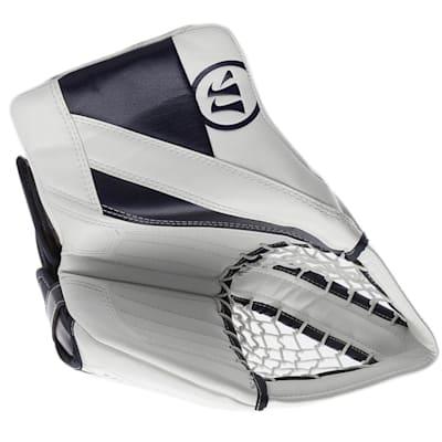 White/Navy (Warrior Ritual G4 Goalie Catch Glove - Intermediate)