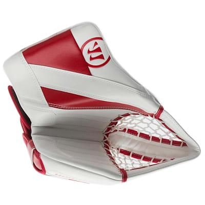 White/Red (Warrior Ritual G4 Goalie Catch Glove - Intermediate)