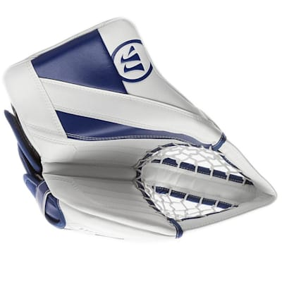White/Blue (Warrior Ritual G4 Goalie Catch Glove - Senior)