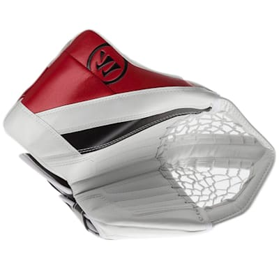 White/Black/Red (Warrior Ritual G4 Goalie Catch Glove - Senior)