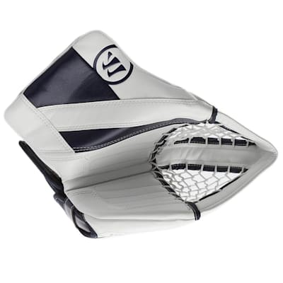 White/Navy (Warrior Ritual G4 Goalie Catch Glove - Senior)