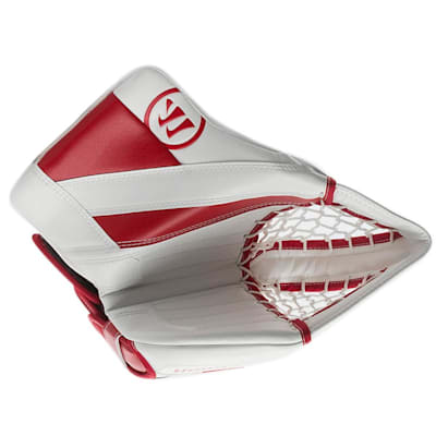 White/Red (Warrior Ritual G4 Goalie Catch Glove - Senior)