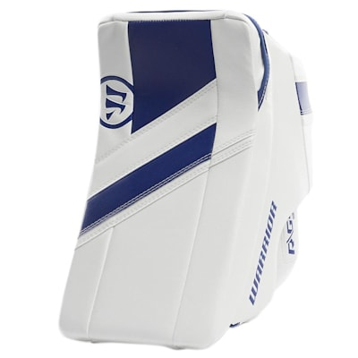 White/Blue (Warrior Ritual G4 Goalie Blocker - Junior)