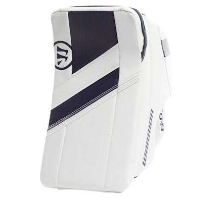 White/Navy (Warrior Ritual G4 Goalie Blocker - Junior)