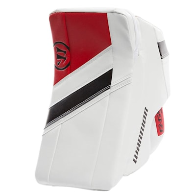 White/Black/Red (Warrior Ritual G4 Goalie Blocker - Intermediate)