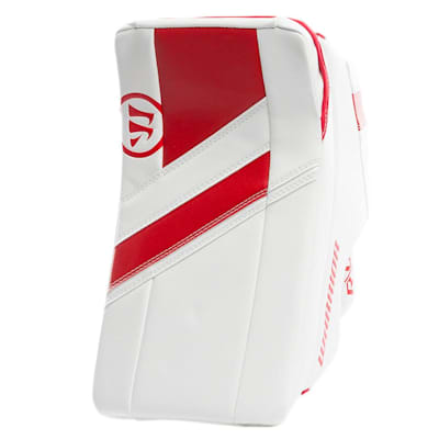 White/Red (Warrior Ritual G4 Goalie Blocker - Senior)
