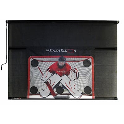 With Target (The SportScreen 16FT Manual Screen w/ Target)