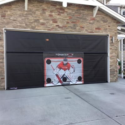 Outside Garage (The SportScreen 16FT Manual Screen w/ Target)