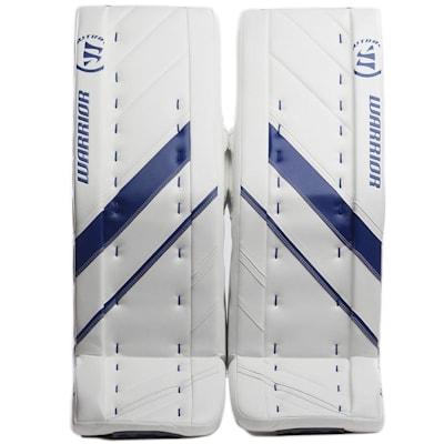 White/Blue (Warrior Ritual G4 Pro Goalie Leg Pads - Senior)