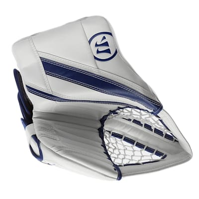 White/Blue (Warrior Ritual G4 Pro Goalie Catch Glove - Senior)