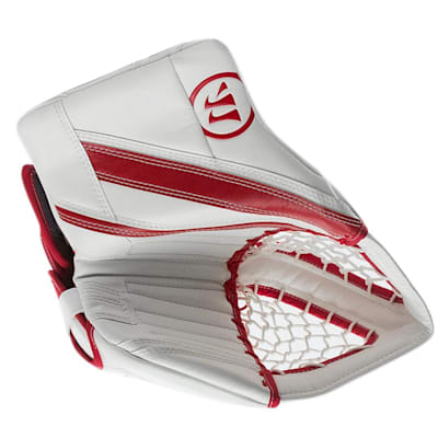 White/Red (Warrior Ritual G4 Pro Goalie Catch Glove - Senior)