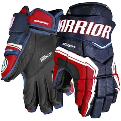 Navy/Red/White (Warrior Covert QR Edge Hockey Gloves - Senior)