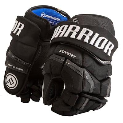 Black (Warrior Covert QR Edge Hockey Gloves - Senior)