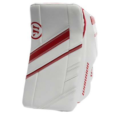 White/Red (Warrior Ritual G4 Pro Goalie Blocker - Senior)