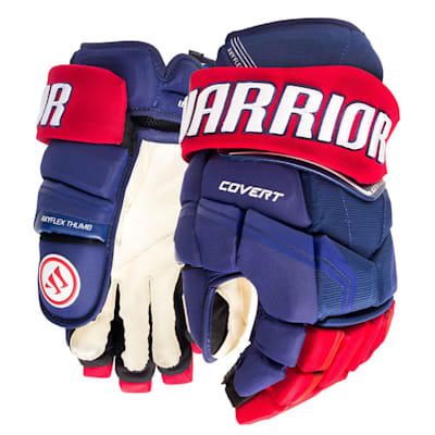 Royal/Red (Warrior Covert QRE Pro Hockey Gloves - Junior)
