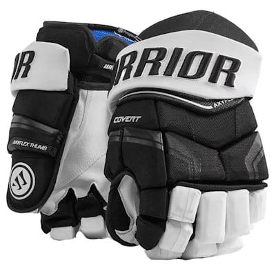 Black/White (Warrior Covert QRE Pro Hockey Gloves - Senior)