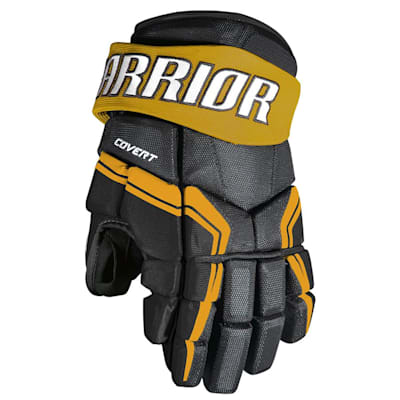 Black/Sport Gold (Warrior Covert QRE3 Hockey Gloves - Junior)