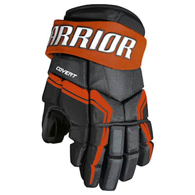 Black/Orange (Warrior Covert QRE3 Hockey Gloves - Junior)