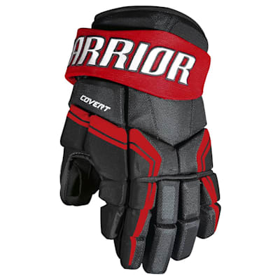 Black/Red (Warrior Covert QRE3 Hockey Gloves - Junior)
