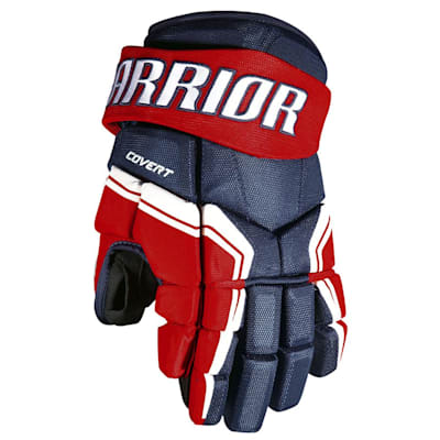 Navy/Red/White (Warrior Covert QRE3 Hockey Gloves - Junior)