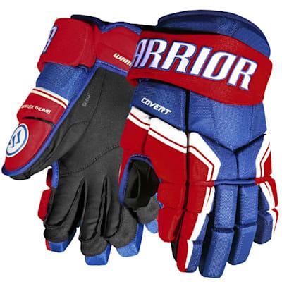 Royal/Red/White (Warrior Covert QRE3 Hockey Gloves - Senior)