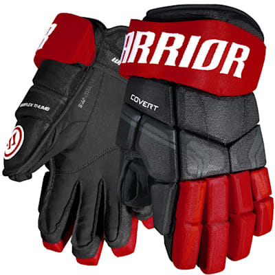 Black/Red (Warrior Covert QRE4 Hockey Gloves - Junior)