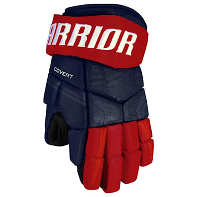 Navy/Red (Warrior Covert QRE4 Hockey Gloves - Junior)
