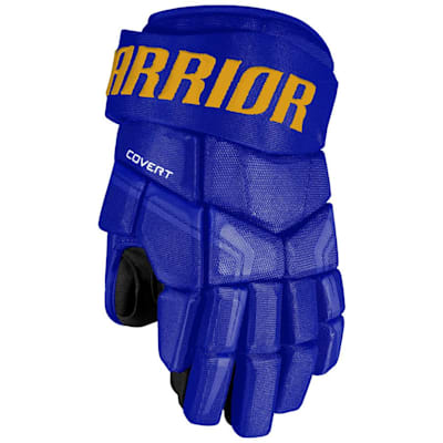 Royal/Sport Gold (Warrior Covert QRE4 Hockey Gloves - Junior)