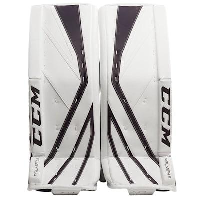 White/Navy (CCM Premier II Pro Goalie Leg Pads - Senior)