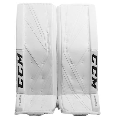 White/White (CCM Premier II Pro Goalie Leg Pads - Senior)