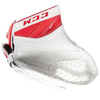 White/Red (CCM Premier II Pro Goalie Catch Glove - Senior)