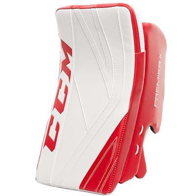 White/Red (CCM Premier II Pro Goalie Blocker - Senior)