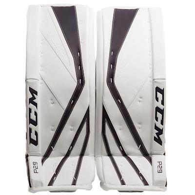 White/Navy (CCM Premier P2.9 Goalie Leg Pads - Intermediate)