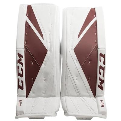 White/Maroon (CCM Premier P2.9 Goalie Leg Pads - Senior)