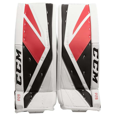 White/Red/Black (CCM Premier P2.9 Goalie Leg Pads - Senior)