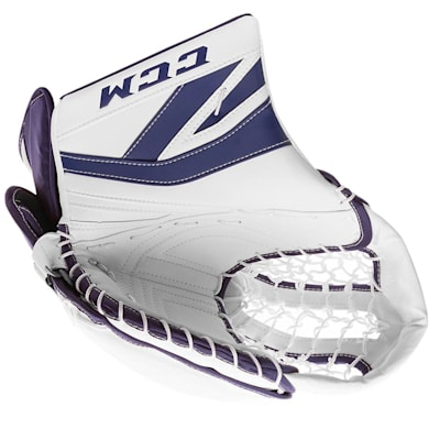 White/Blue (CCM Premier P2.9 Goalie Catch Glove - Intermediate)